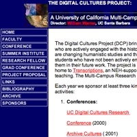 Homepage, Digital Cultures Multi-Campus Research Group