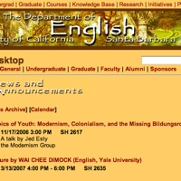 Homepage, UCSB English Department