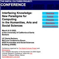 Homepage for 2002 Santa Barbara conference Interfacing Knowledge