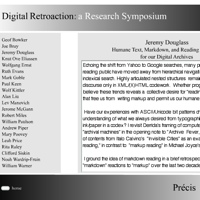 Abstract from Humane Text, on Digital Retroactions website