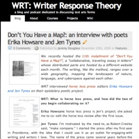 Homepage of research blog WRT: Writer Response Theory